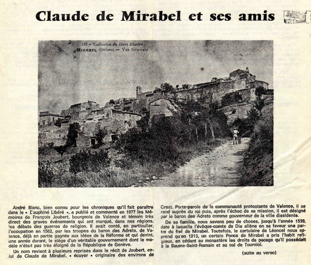 compr.Claude de Mirabel et amis.gazette 78