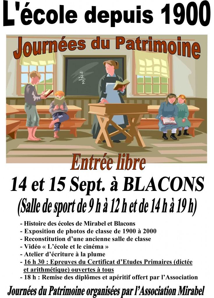 2013 Affiche journŽes du patrimoine